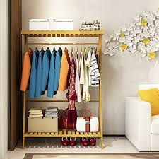 How High To Hang A Coat Rack Magnificent Hanger Floor Modern Simple Solid Wood Bamboo Coat Racks Assembly