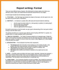 report writing format template sample business report format 10 formal report writing format parts of resume