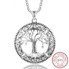 details about 925 stamped sterling silver tree of life pendant necklace womens las gift new