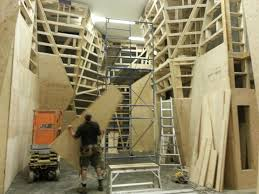 one of three climbing rooms under construction