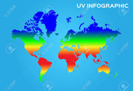 Uv Ultraviolet World Map Infographic Chart Uv Vector Graphic