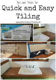 How to tile the easy way...lots of time saving ideas!