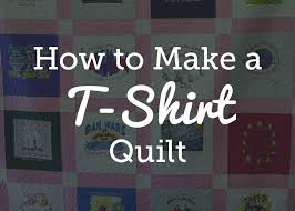 T Shirt Quilt Patterns Adorable Quick And Easy TShirt Quilt Tutorial National Quilters Circle