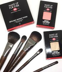 make up for ever artist face colour rous brush set