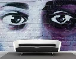 Vlies Fotobehang Graffiti Ogen Abstract En Graffiti Behang