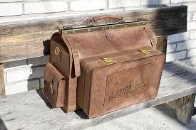 LeatherVM Huge doctor bag, travel bag, leather doctor bag, <b>genuine</b> ...