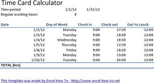 Time Card Calculator Free 3 Time Card Calculator Free Download