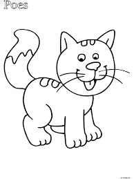 Kleurplaat Peuter Kleurplaat Poes Kleurplatennl Cats Dogs