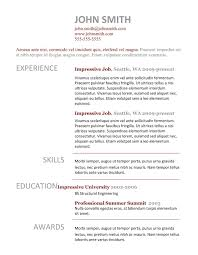 Free Simple Resume Template 100 simple resume templates free download Best Professional Resume 84
