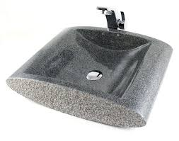 stream sesame black granite stone countertop bathroom lavatory vessel sink 21 x 16 inch