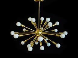 large 24 arm brass sputnik chandelier