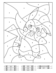 Colour by number free worksheets. 3 Free Pokemon Color By Number Printable Worksheets