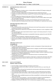 Process Consultant Resume Samples Velvet Jobs