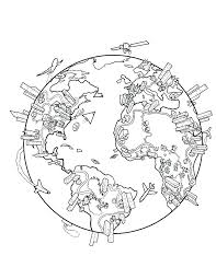 World Map Coloring Pages Printable