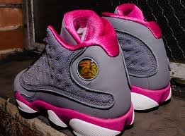 air jordan shoes for girls grey. air jordan 13 gs cool grey fusion pink white shoes for girls e