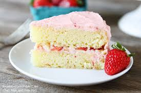 slice of strawberry cake.  Slice Strawberry Lemonade Cake Throughout Slice Of S