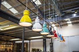 large industrial factory lights