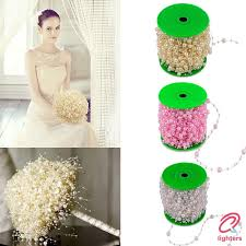 〖LT  〗 Party <b>5 Meters Fishing Line</b> Artificial Pearls Beads Chain ...