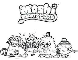 Moshi Monster Coloring Pages Monsters Coloring Pages Monster And