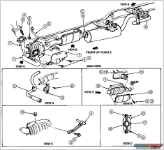 Printable 2000 ford explorer exhaust diagram large size