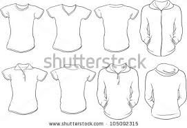 stock vector vector set of female shirts template front and back designs in white check out my portfolio for 105092315 apparel template shorts stock photos, royalty free images on polo shirt design template