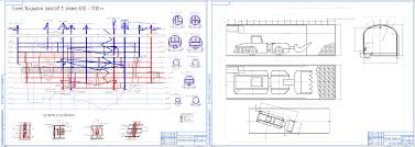 Дипломные проекты и курсовые работы скачать чертежи в autocad в  Дипломный проект колледж Проект проходки подготовительной выработки подэтажа 1015 м в условиях рудника