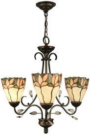 springdale lighting crystal leaf 3 light bronze hanging chandelier chain