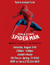 Spiderman Template Spiderman Birthday Party Invitation Template Postermywall