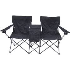 photo 1 of 11 double camping chair with table 1 elegant double folding camping chair