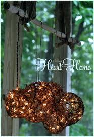outdoor chandelier diy with solar lights easy