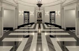 ornate impressions marble floor design