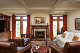 Featured Image of Craftsman Living Room With Rich Warm Colors Tone