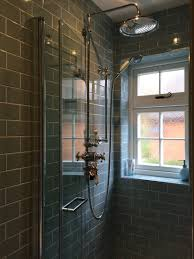 Fired Earth Kitchen Tiles Ensuite Shower Room Fired Earth Retro Metro Atrium Blue Crackle