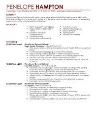 Resume Sample For Warehouse Worker general warehouse resume sample Kleobeachfixco 19