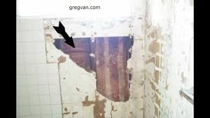 bathtub and shower wall damage green board drywall and tile s you