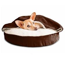 Amazon FurHaven Round Snuggery Burrow Pet Bed Espresso 26