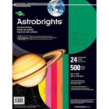 Wausau Astrobrights Bright Color Paper Letter Size Paper 24 Lb