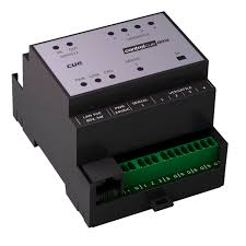 din rail control module for home automation systems ip controlcue dmx d