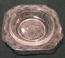 Pink Depression Glass Patterns Magnificent Mirror Clear Depression Glassware For Sale EBay