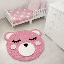 bear crochet rug handmade kids corchet baby girl nursery rugs