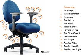 office chair parts. Neutral Posture 5000 Series Task And Mid-Back Office Chair Parts ,