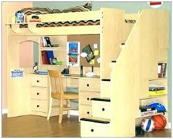 full bed with desk queen loft plans bunk designs