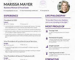 Marissa Mayer Resume Gorgeous Make Your Content Look As Good As This Cv From Yahoo's Ceo