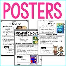 Reading Genre Posters Genre Anchor Charts Readers Notebook Sheets