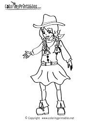 Cowgirl Coloring Page - A Free Girls Coloring Printable