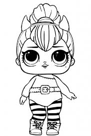 Doll Coloring Pages Spice Lol Surprise