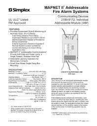 mapnet ii addressable fire alarm systems Simplex Fire Alarm Wiring Diagram Simplex Fire Alarm Wiring Diagram #77 fire alarm system simplex wiring diagram