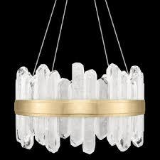 lior short symmetrical crystals chandelier nature inspired lighting84 lighting
