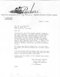 contract letter 1944 green bay packers contract astuteo