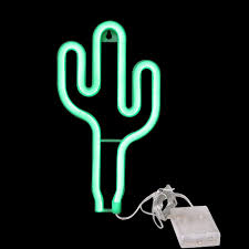 Cactus Neon Light Cactus Neon Light Wall Decor Neon Signs For Bedroom Kids Battery And Usb Powered Night Light Home Decoration